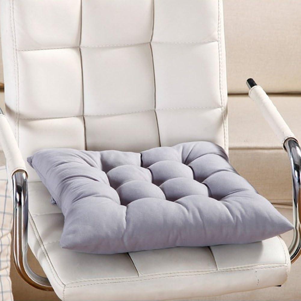 Almohadilla para asiento, 9 colores, lavable, cojín para silla de comedor, jardín, cocina, coche Tamaño libre gris