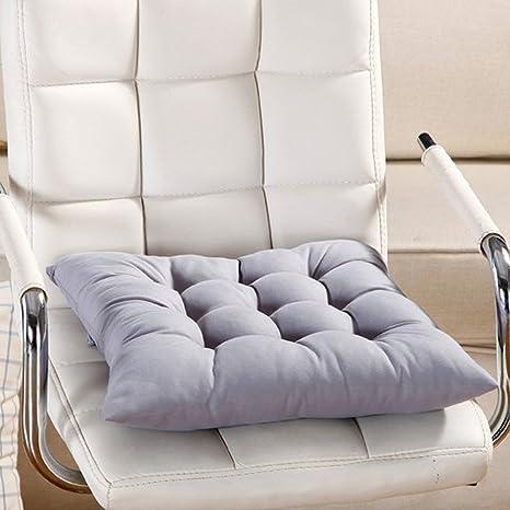 Cuscino per sedia, 9 colori, lavabile, per sala da pranzo, giardino,  cucina, auto Taglia libera Grey