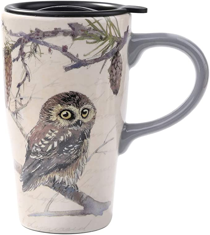 Owl Coffee Cup Goebel 76516 Porcelain Childs Cup Farmhouse Style Owl Tea Cup Collectible Gift