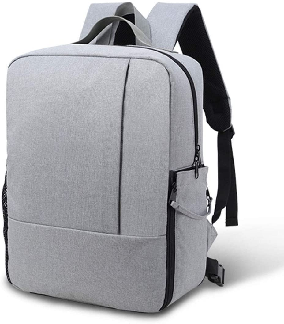 Stylish Minimalist Grey Camera Bag Multi-Functional SLR Backpack Professional Camera Bag 15.6-inch Laptop Multi-Function Collection Bag Sports Backpack