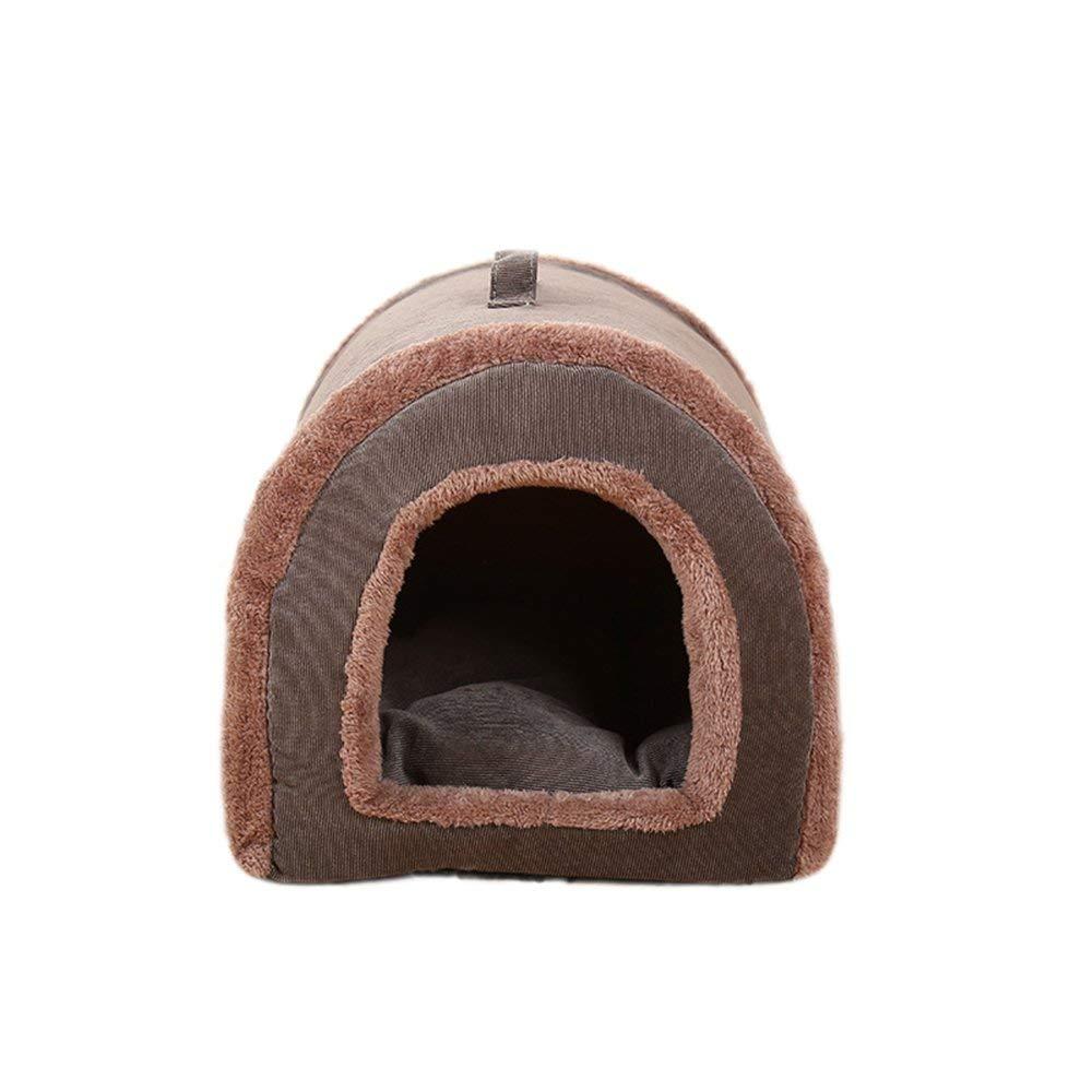 Large HeiPlaine Pet Sofa Creative Fashion Corduroy Pet Nest Removable And Washable Keep Warm Kennel Cat Nest,L (Size   Large)