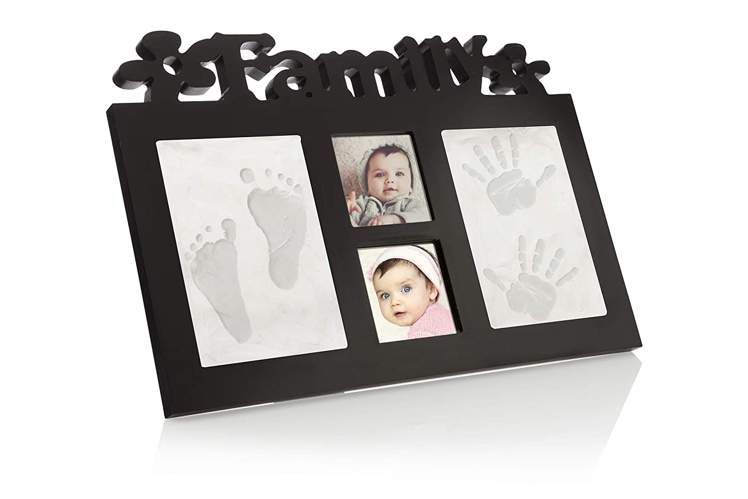 Baby Handprint & Footprint Kit Frame,Gift for Baby Boy & Girl, Keepsake for Newborn