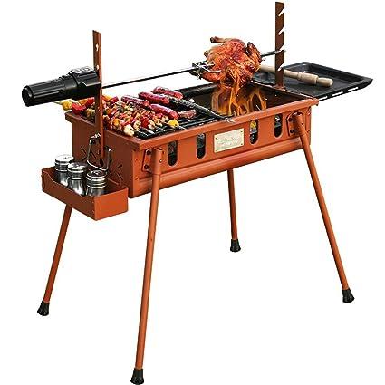 YONG@ Barbacoa barbacoa portátil al aire libre barbacoa en casa suministros barbacoa (llama hierro