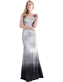 0742549e4cbc LanierWedding Gold Sequins Mermaid V Neck Bridesmaid Dresses Plus Size Prom  Dresses