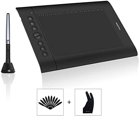 HUION H610PRO V2 Graphics Drawing Tablet 8192 levels Battery Free Pen Stylus US