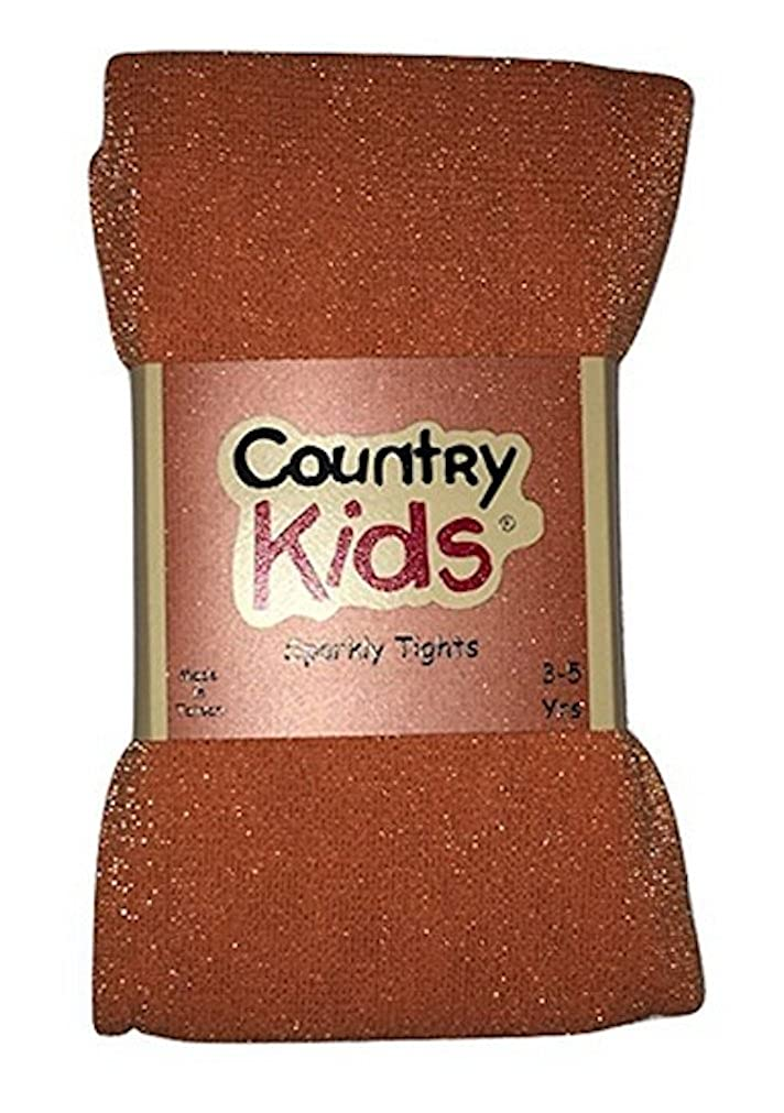 Country Kids and Jefferies Girls Sparkly Footed Tights Metallic for Ages 1-14 Years