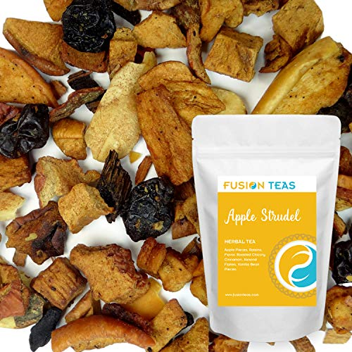 Apple Strudel Herbal Tea - Loose Fruit Tea - Fusion Teas 5oz Pouch