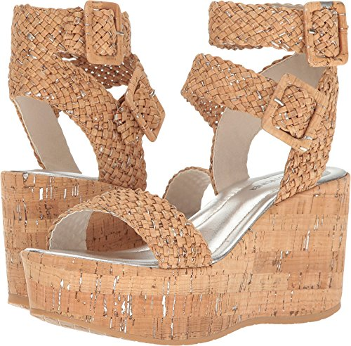 Donald J Pliner Womens Cyndi Open Toe Casual Ankle, Natural Silver, Size 9.0 Donald J Pliner Ankle Strap Platforms