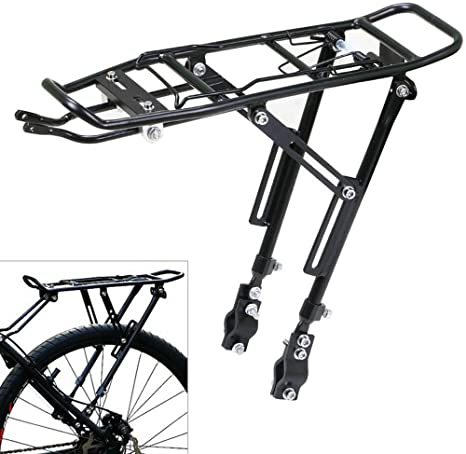Bicycle Cycling Mountain Bike Disc Brake Rear Seat Rack Carrier Luggage Pannier