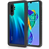 IP68 Waterproof Transparent Phone Case for Huawei P30 Pro, Full-Body Protective Rugged Case,Clear Back Cover Case with Built-in Screen Protector for Huawei P30 Pro (2019 Release) (Black)