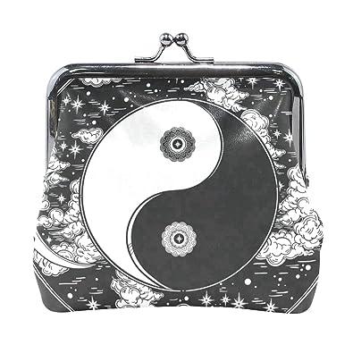 Amazon.com: Monedero romántico chino Yin Yang negro para ...