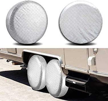 Moose and Canada Flag Tire Covers Waterproof UV Sun RV Trailer Tire Protectors Universal Spare Tire Wheel Cover Fits 24 to 33 Tire Diameters