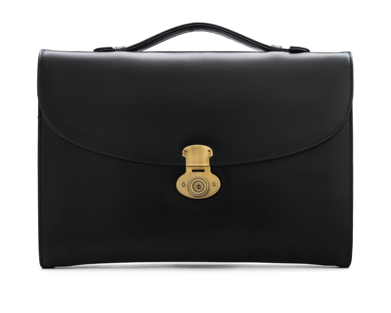 SAGEBROWN Black Windsor Briefcase