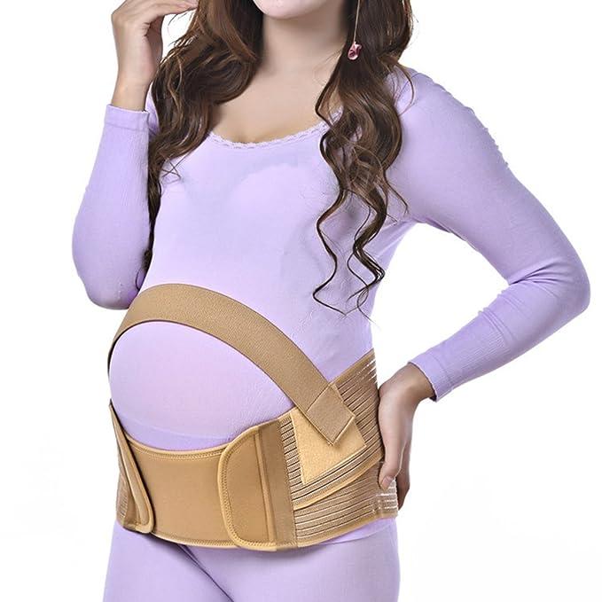 Andux Fajas de embarazo ajustable para mujer prenatal y postnatal elástico y confortable (S,