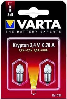 Varta 751 Glühlampe Stecksockel 2,4V 0,7A 2er Pack
