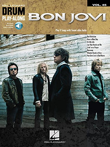 Bon Jovi: Drum Play-Along Volume 45 (Hal Leonard Drum (Drum Play Along Songbook)
