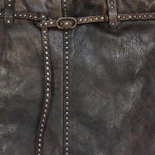 CAMPOMAGGI Schultertasche mit Gurt und Nieten, (BxHxT) 44 x 40 x 12 cm, Grigio