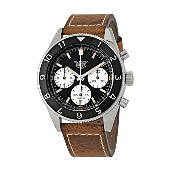 fb8edb83228 Image Unavailable. Image not available for. Color  Tag Heuer Heritage Black Dial  Mens Chronograph ...