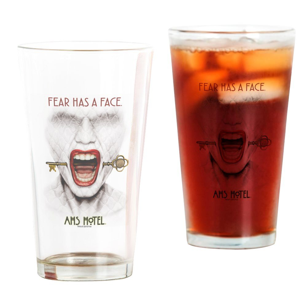 CafePress - AHS Hotel Fear Has A Face - Pint Glass, 16 oz. Drinking Glass