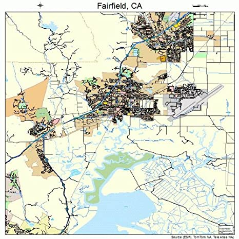 Amazon Com Large Street Road Map Of Fairfield California Ca