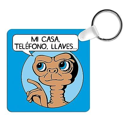 Llavero E.T. mi casa, teléfono, Llaves. Llavero Friki ...