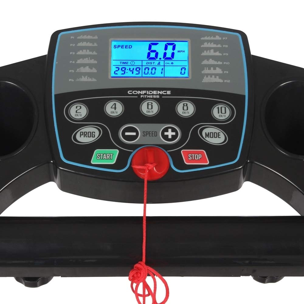 Confidence Fitness TP-1 Electric Treadmill Folding Motorised Running Machine by Confidence (Image #3)