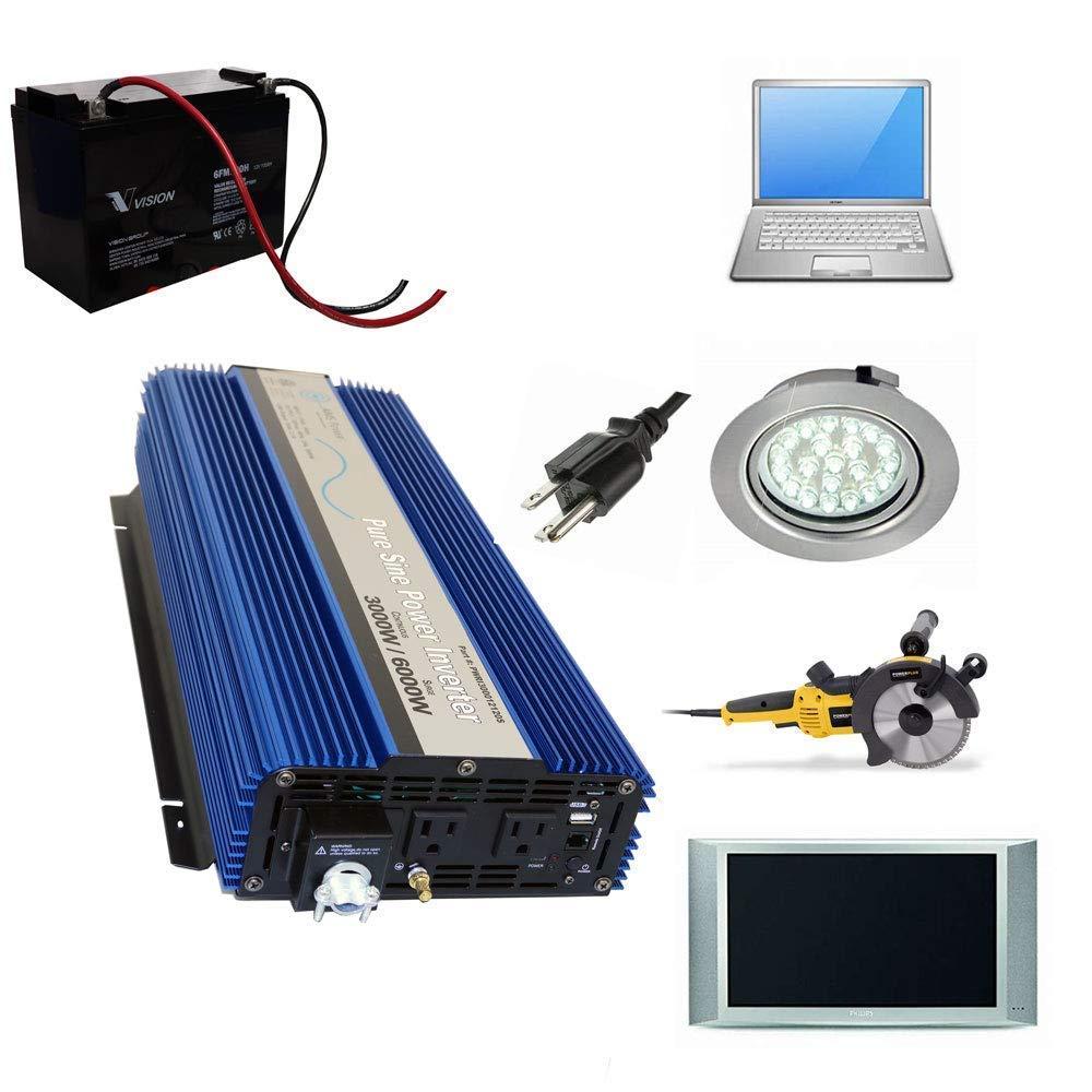 AIMS Power PWRI300012120SUL 3000 Watt Pure Sine Wave Power Inverter, ETL Listed by AIMS Power (Image #6)