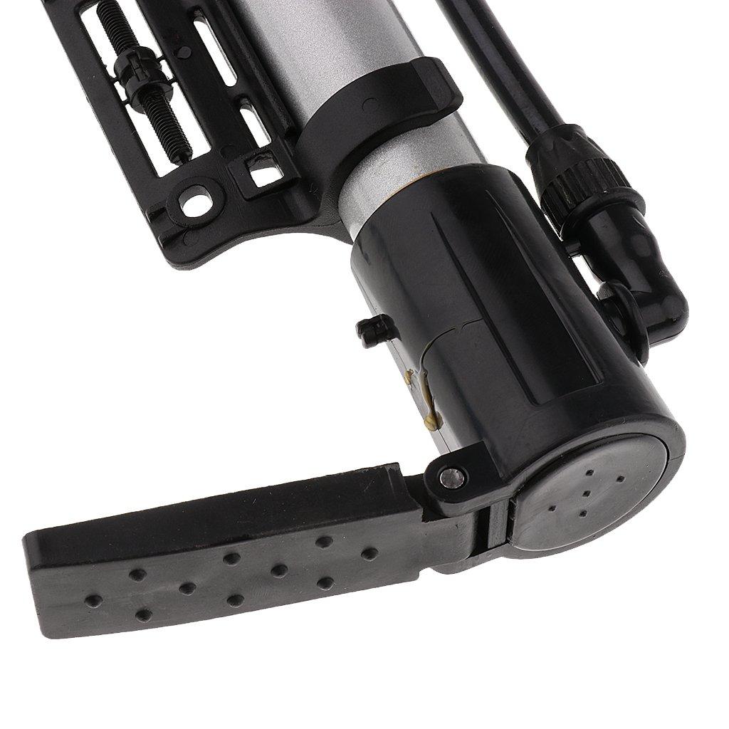 Mini Pompe /à Air en Alliage dAluminium Portable V/élo VTT Gonfleur Argent