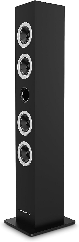 THOMSON DS120CD - Torre Multimedia (Sistema 2.0, Reproductor de CD, Bluetooth, 60 W, Pantalla LED, USB, Ranura SD) Negro