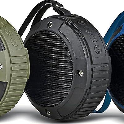 Bluetooth Shower Speaker - Alpatronix AX320 Bluetooth 4.0 Rugged Speaker - Waterproof Shockproof Dustproof Splashproof Rugged Speaker / Weatherproof Outdoor Portable Bluetooth Speaker for Travel, Work, Hiking, Beach / Marine Wireless Speaker / Rugged Blue