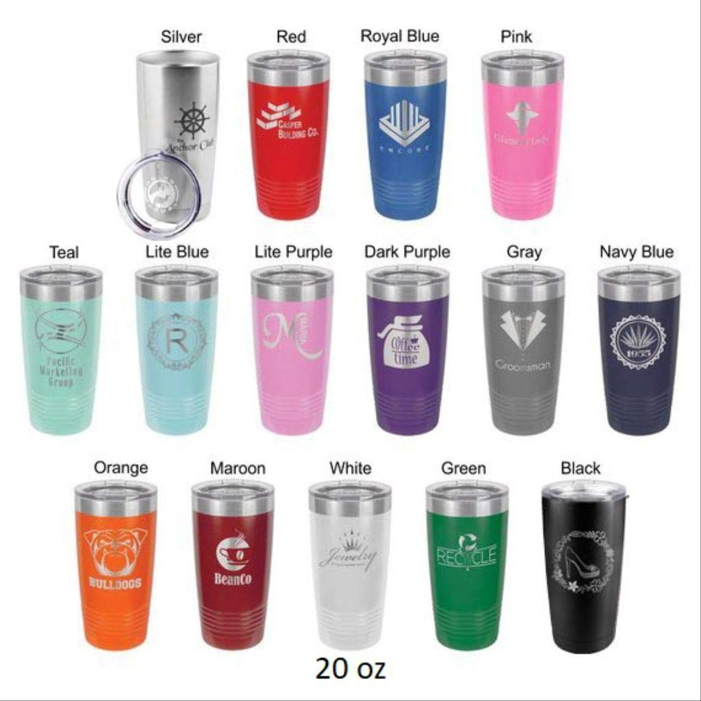 Father of the Bride - Stainless Steel Tumbler with a Clear Lid - Choice of 20 oz, 30 oz Tumblers, Colors, Spill Proof Slide Lid, Titles & Date - Custom Engraved - Bridal Party, Wedding Gift