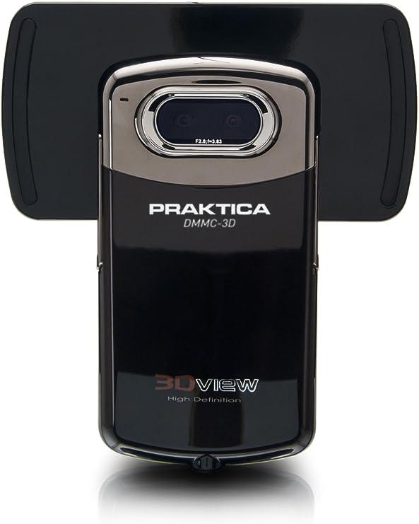 Praktica DMMC-3D - Videocámara de Alta definición HD (720p, con función de cámara (5 megapíxeles), vídeo 3D 8,1 cm (3,2