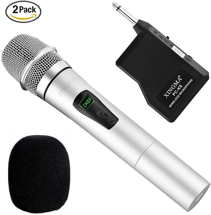 Micrófonos inalámbricos, micrófono dinámico de mano ...
