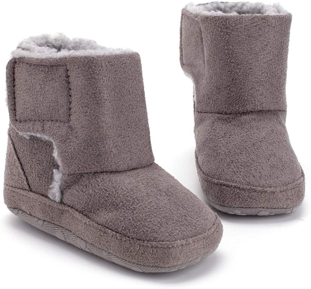 air-SMART Unisex Baby Snow Boots Infant Toddler 0-18M Soft Sole and Anti-Slip Winter Warm Crib Shoes