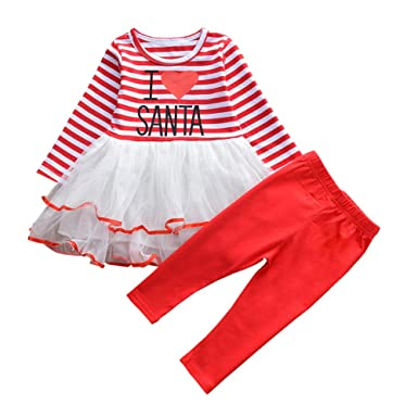 outgle little girl christmas dress toddler girl long sleeve tutu dress red trousers xmas outfits