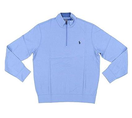bd1d8f1fcb3e RALPH LAUREN Polo Men s Cotton-Blend Half-Zip Pullover Sweater at ...