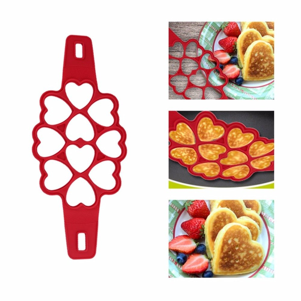 Silicone Fried Eggs Mold Breakfast Maker Tool Portable Lovely Heart Shaped Kitchen Fantastic Pancake Fast Easy Tools