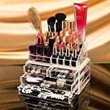 vmore Cosmetic Organizer Makeup Storage Box (Acrylic, Transparent)
