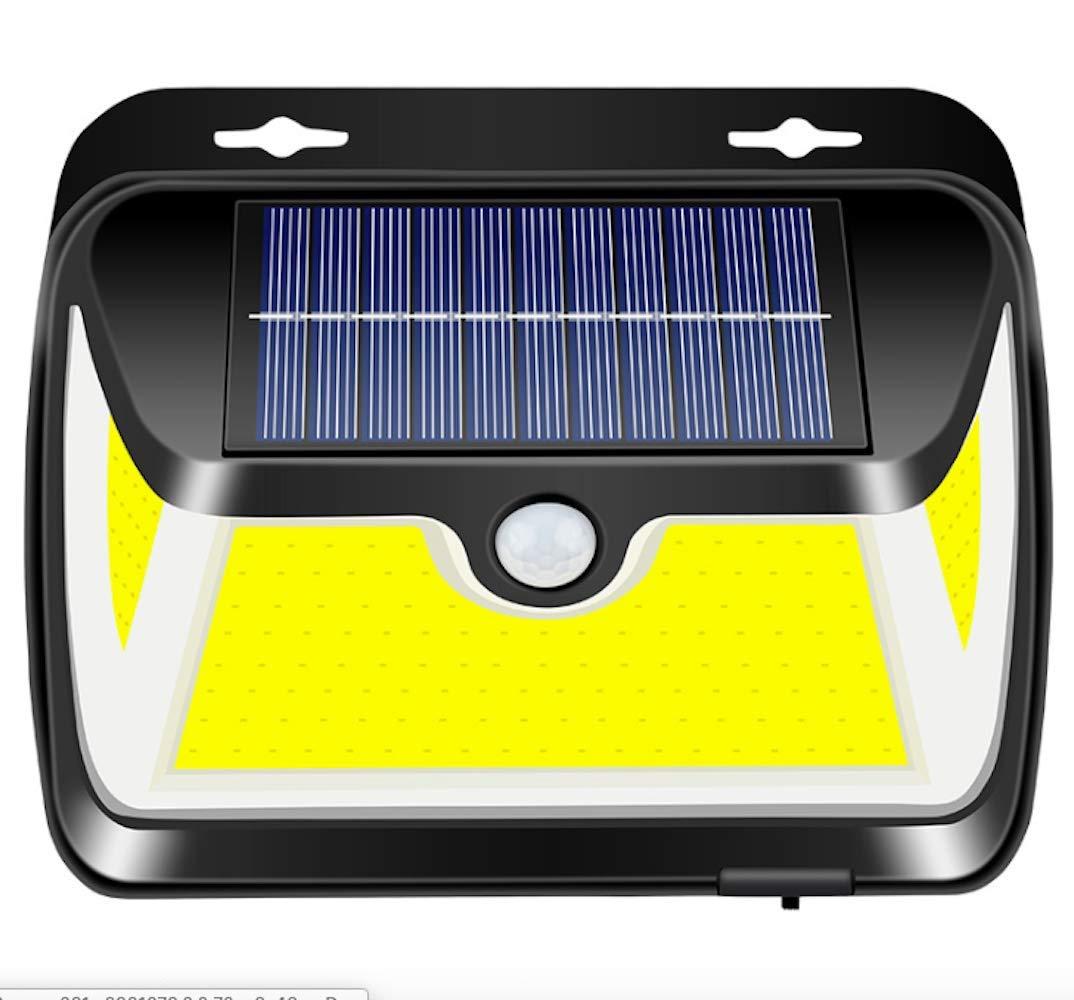 センサーライト 屋外 ソーラーライト 163COB 3面発光人感センサー 屋外照明 防犯 防水 太陽光発電 3つ点灯モード 照明 玄関 庭 駐車場 ガーデンライト