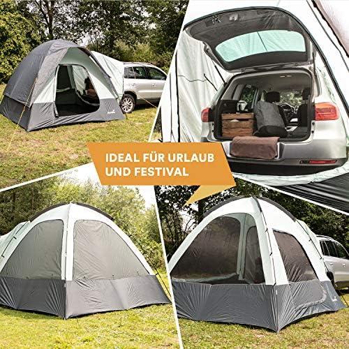 skandika Pitea SUV Zelt für 4 Personen, FahrzeugAutoBusMini Van Vorzelt, freistehend 300x300cm mit 220cm Höhe & eingenähtem Zeltboden