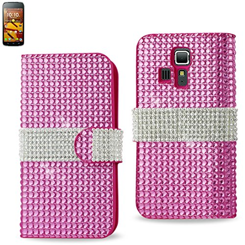 reiko-diamond-flip-case-for-kyocera-hydro-icon-c6730-hydro-life-c6530n-retail-packaging-pink