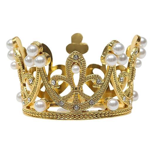 Lurrose 2 Piezas Corona Decoración de Perlas Accesorios para ...