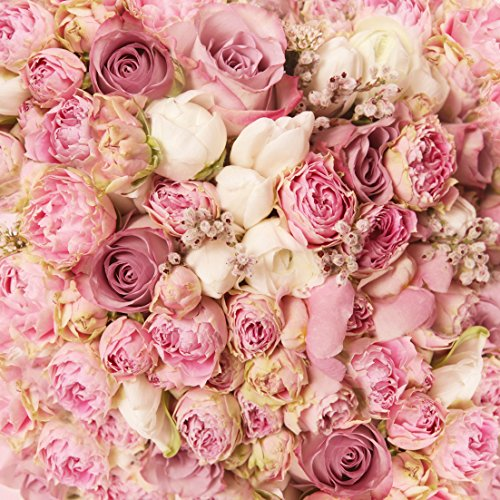WOLADA 10X10ft Rose Floral Wall Wedding Photography Backdrop Art Fabric Studio Pink Flowers Wall Photo Backdrop 9604