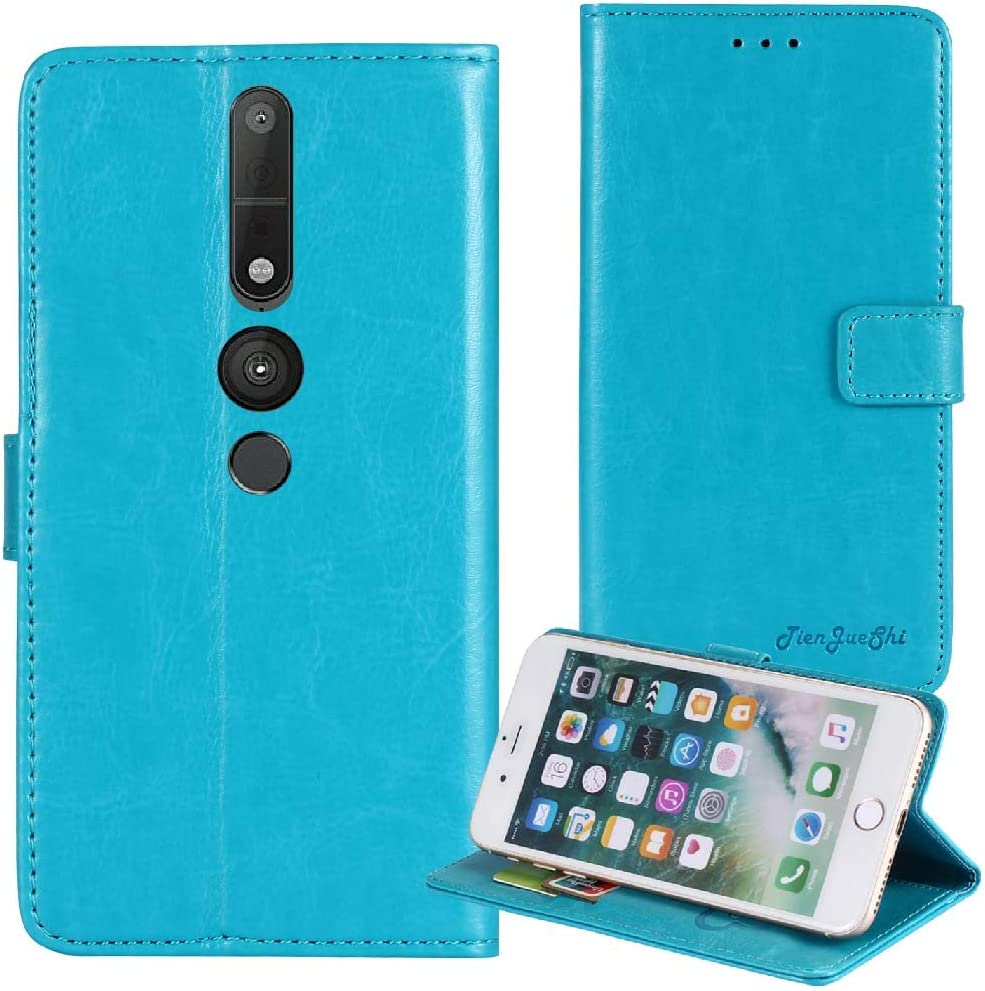 TienJueShi Blue Book Stand Premium Retro Business Flip Leather Protector Case Cover TPU Silicone Etui Wallet for Lenovo Phab 2 Pro 6.4 inch