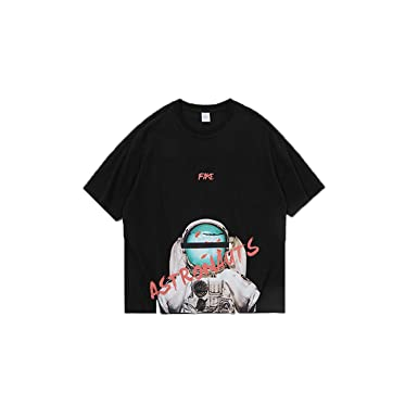 Mens Summer New Fashion Loose Casual T-shirt Youth Printed Hip Hop Oversize Tee