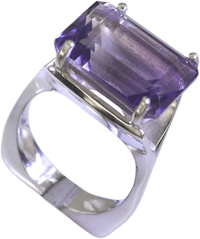 Gemstone Ring Sterling Silver Ring Unisex Ring Natural Amethyst Ring Wedding Gift R1705 February Birthstone Ring Amethyst Ring