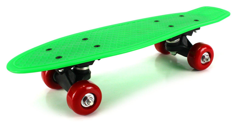 Mini Street Cruiser Complete 17'' Banana Skateboard w/ ABEC-5 Bearings (Green) by Skateboards