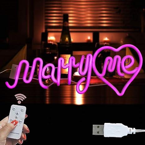 Amazon.com: Pooqla - Lámpara de letras de neón, color blanco ...