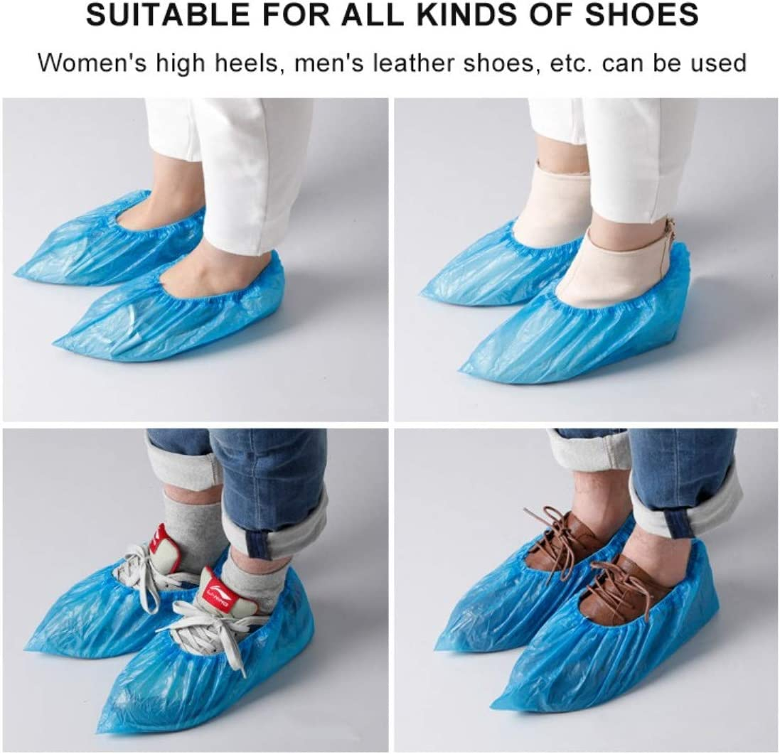 50 Pairs CPE Plastic Durable Boot/&Shoes Cover 100 Pack Shoe Covers Disposable -Waterproof Slip Resistant Non Slip One Size Fits All