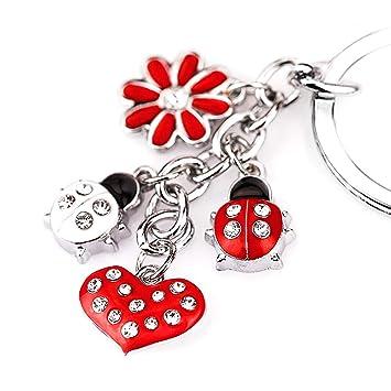 Amazon.com: z395 Cute Corazón Estilo catarina Rojo Lily ...